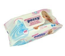 Pozzy Mega Baby Wet Wipes w/Cap - Pink