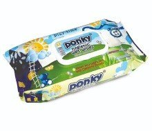 Ponky Baby Wet Wipes w/Cap - Play Time