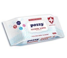 Pozzy Wet Wipes - 75% Alcohol Based